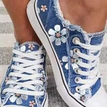 Chaussures แผ่นผ้าใบผู้หญิงรองเท้า2021แฟชั่นดอกไม้ลำลองรองเท้าผู้หญิง Lace Up รองเท้าผู้หญิง Loafers ขนาด43 ...