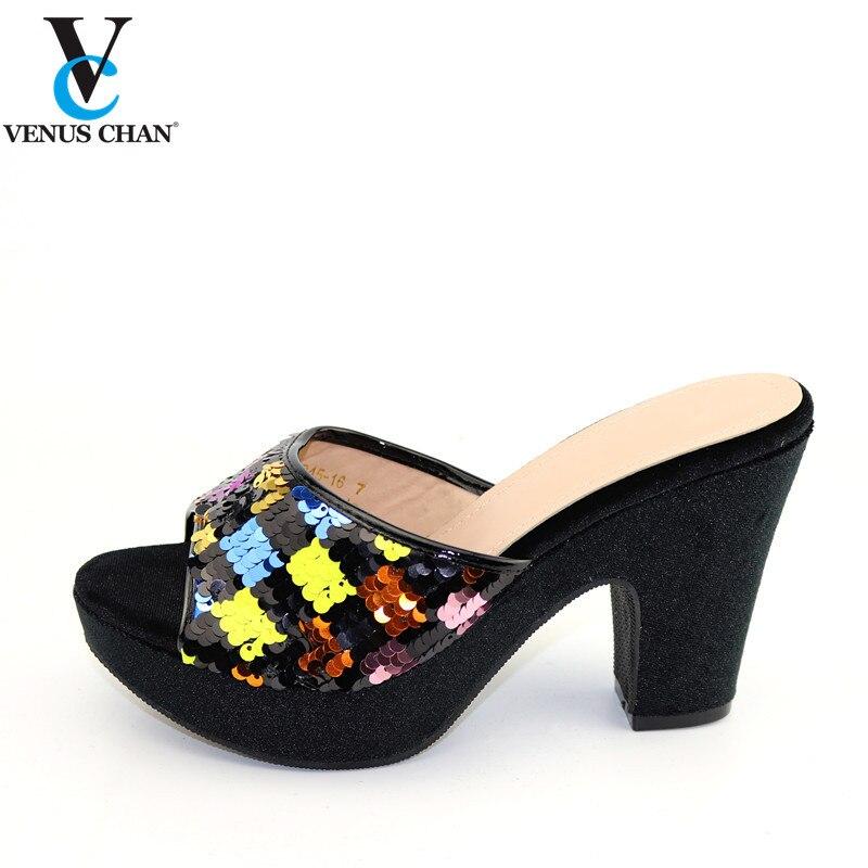 Elegante Frauen Schuhe Afrikanische Dame Classics Stil in MultiColor Nigerian Frauen Passenden Schuhe