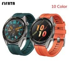 FIFATA 22/20mm correa de reloj inteligente para Huawei Watch GT/GT2 correas de silicona pulsera deportiva para Honor Watch Magic muñequera