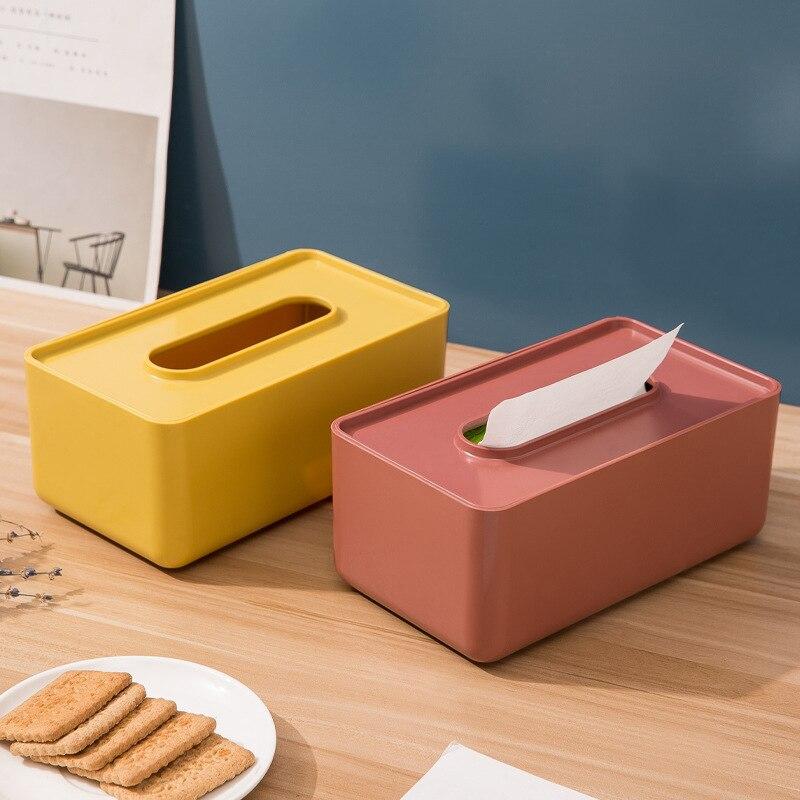 Caja de pañuelos de plástico para decoración del hogar, accesorios modernos y...
