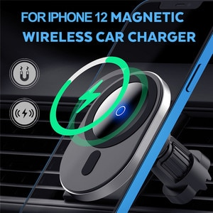 15W Magnetic Wireless Car Charger Mount for iPhone 12 12Pro Magsafe Wireless Charger Car Phone Holder Air Vent Suction Cup Stand