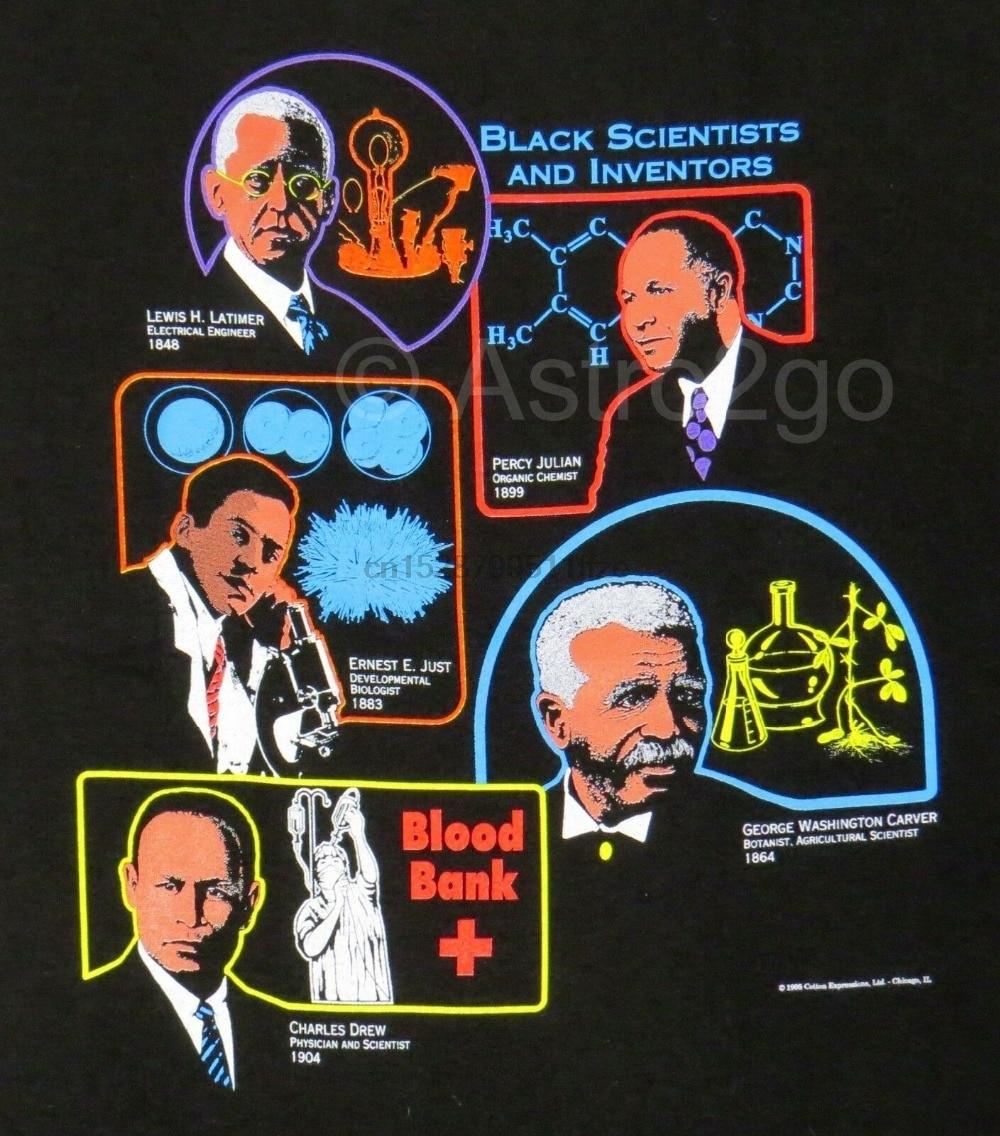 Black Scientists  Inventors-African American Drew Carver Julian Just Latimer 2019 Fashion Brand MenS Tops Street Wear T-Shirt
