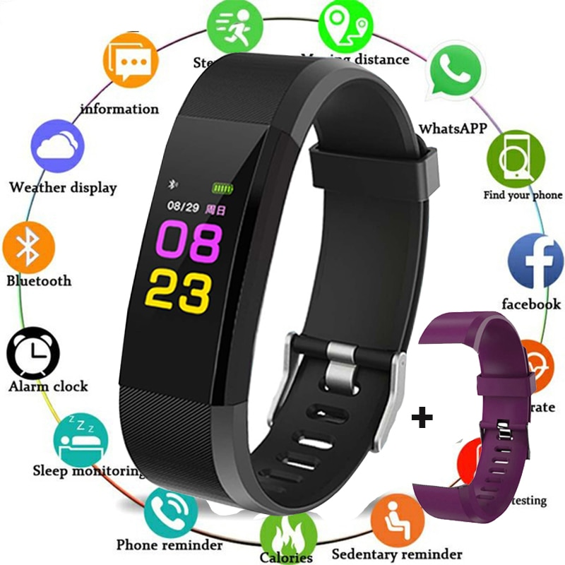 Sport Bracelet Watch Women Men LED Waterproof Smart Wrist Band Heart rate Blood Pressure Pedometer Clock For Android iOS reloj ogeda smart watch men sports bracelet led waterproof smart wrist band heart rate blood pressure pedometer clock for android ios