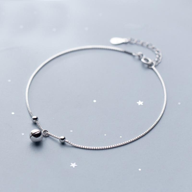 MloveAcc новый браслет на лодыжку 100% настоящий 925 Стерлинговое серебро бусины очаровательные лодыжки для женщин модные ювелирные изделия женские аксессуары