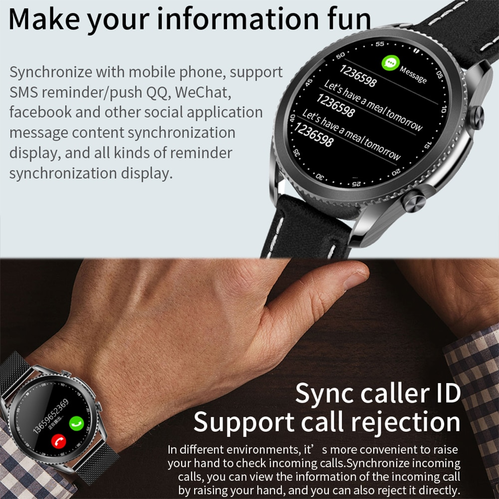 2021 Round Smart Watch Men Bluetooth Call Sports Clock Fitness Tracker Waterproof Women Smartwatch for IOS Android Huawei phone