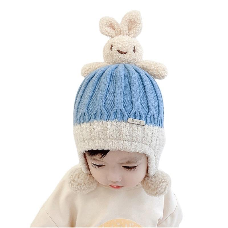 Детская вязаная шапка осень-зима шерстяная модная Корейская шапка мужская теплая шапка для защиты ушей сетчатая Красная шапка