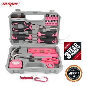 Hi-Spec 42 Pcs Hand Tool Sets Household Home Repair Tool Set Screwdriver Tool Box Set Scissors Claw Hammer Tools For Home Use