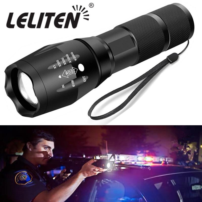 Portable mini flashlight XML-T6 L2 V6 LED ZOOM Torch hunting zoomable Flashlight torch Light enlarge