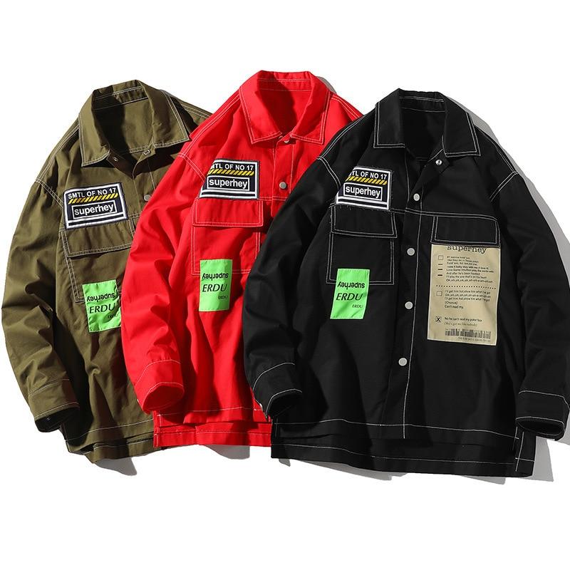 Chaquetas tipo de carga de Primavera de 2020 para hombres chaqueta de...