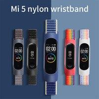 Ремешок нейлоновый для mi band 6, спортивный браслет-петля для наручных часов, браслет для Mi band 5, браслет для xiaomi mi band 4 5 3
