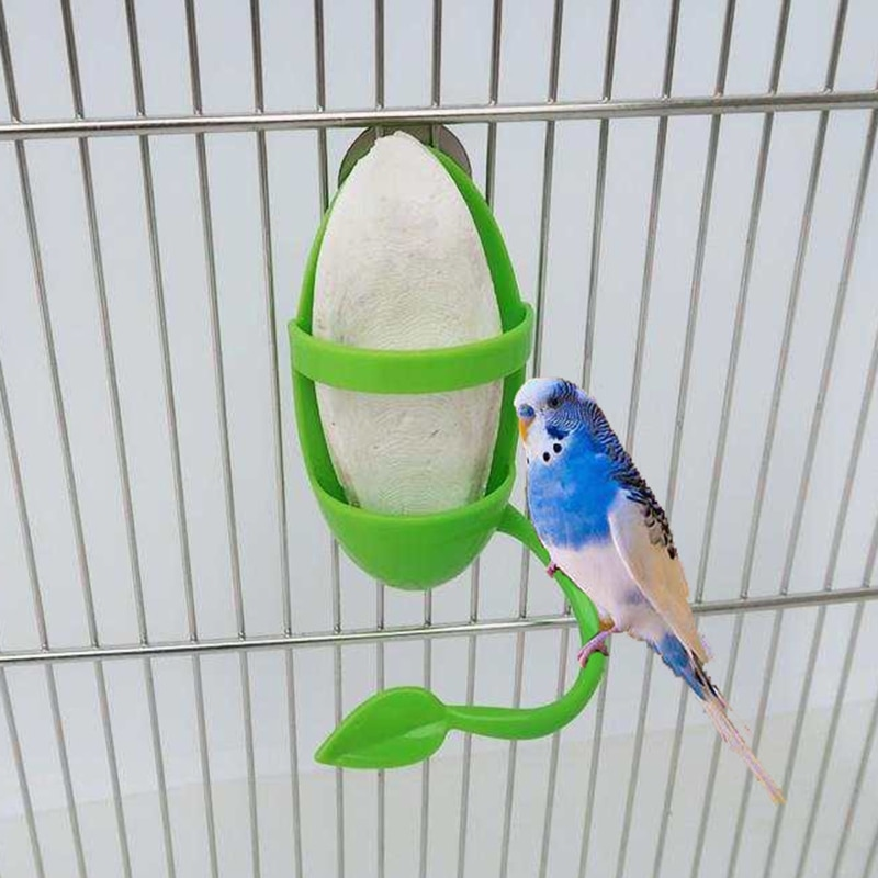Parrot Feeder with Standing Rack Fruit Vegetable Holder Plastic Hanging Food Container Cage Accessor