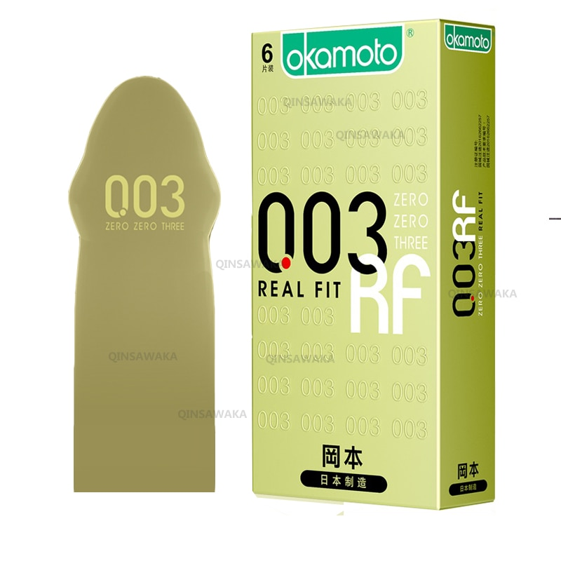 Preservativos OKAMOTO tamaño L hechos en Japón, manga de pene, condón de látex Natural de larga duración, condón Gay, manga íntima para pene