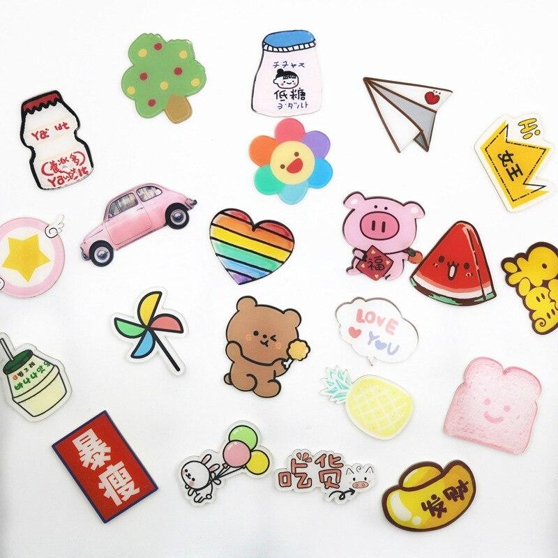 5 или 10 шт. аниме значки с рисованным аниме, акриловые заколки знак украшения броши значки для одежды рюкзак DIY Классические игрушки ZH