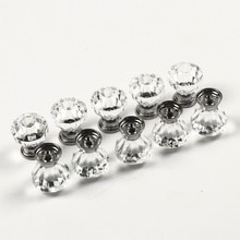 10pcs Clear Acrylic 30mm Diamond Shape Knob Cupboard Drawer Pull Handle Knobs Brand New Knobs and Kandles for Furniture Drawers