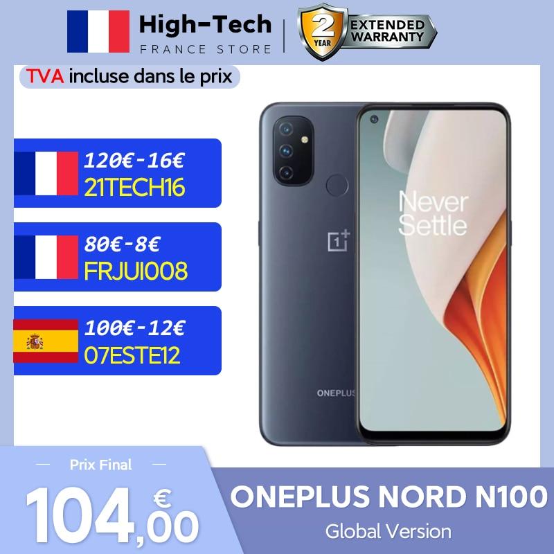 OnePlus Nord N100 Global Version 4GB 64GB Smartphone Snapdragon 460 90Hz 6.52'' Display 13MP Triple Cameras 5000 mAh Battery 18W