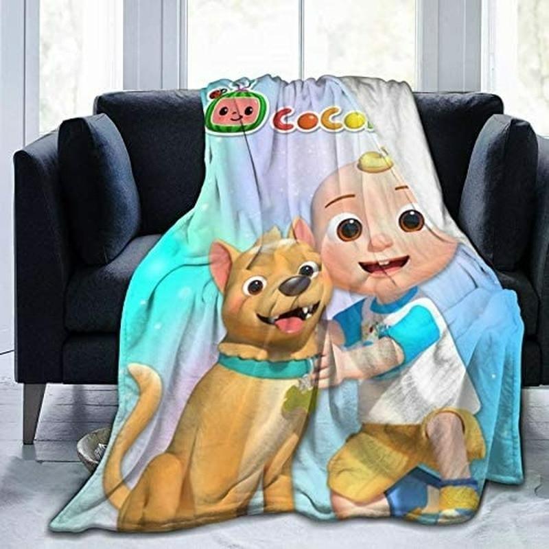 بطانية صيفية لتكييف الهواء من Coco-البطيخ بطانية مناسبة للأطفال أو الكبار مناسبة لسرير الأطفال والكرسي والسرير باللون الأسود مقاس 50 × 60 بوصة