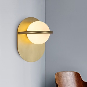 Nordic Led Wall Light Luxury Modern Glass Ball Minimalist Fashion Creative Dining Room Bedroom Villa Hall Sconce Aisle Deco Lamp