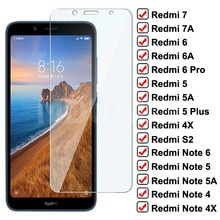 9D Screen Protector Glass on the For Redmi 5 Plus 5A 4X S2 Go K20 7 7A 6 6A Redmi Note 4 4X 5 5A 6 P