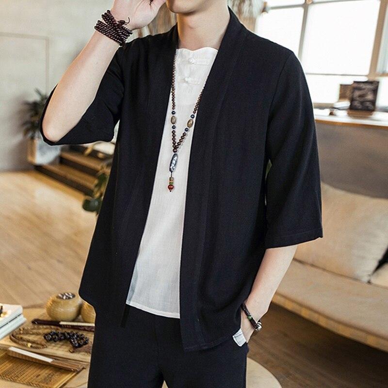 Rebeca japonesa para hombre, Kimono tradicional Samurai japonés, ropa de calle, Yukata, camisa para hombre, Haori Kimono, camisa para hombre 4XL 5XL