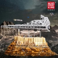 moc star plan destroyer building block cruise ship the empire over jedha city model sets brick kids toys gifts