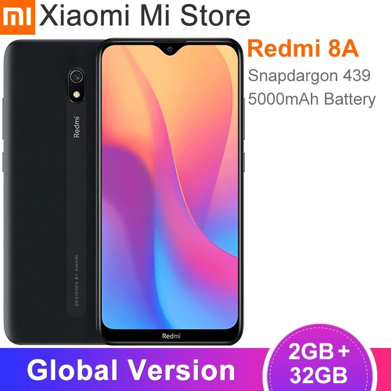"Global Version Xiaomi Redmi 8A 8 A 2GB 32GB Smartphone 6.22"" Snapdargon 439 Octa core 5000mAh 12MP Camera Mobile Phone"