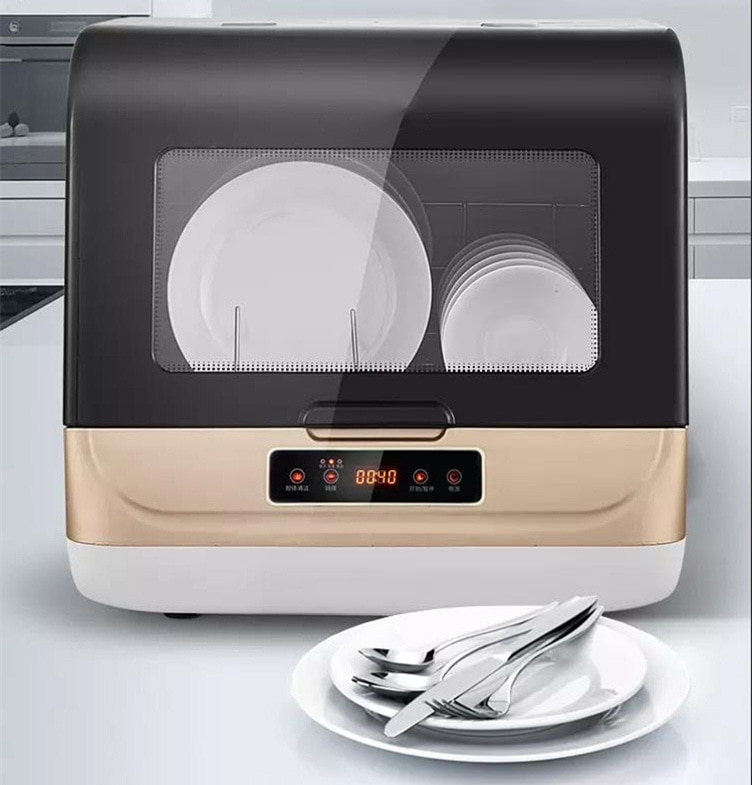 220V Dishwasher full-automatic domestic desktop small disinfection cabinet mini intelligent embedded dishes mini washing machine