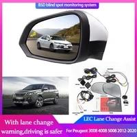blind spot detection system for peugeot 3008 4008 5008 2012 2020 rearview mirror bsa bsm bsd monitor change assist radar warning