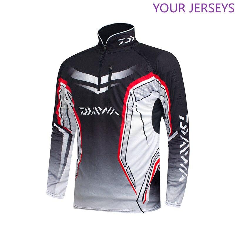 Waterproof Quick-Drying Long Sleeve Fishing Clothing Men UV Protection Outdoor  Shirt For Hiking Cycling  Clothes Pesca DAIWA