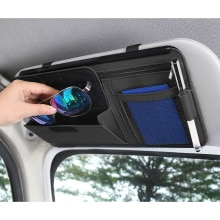 Car Sun Visor Storage Bag Auto Accessories Pocket Organizer Truck Storage Interior Luxury Ornament C