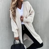 sweater knit cardigan women loose cashmere wool fall winter thick warm soft oversized women pockets long 2021 winter sweater