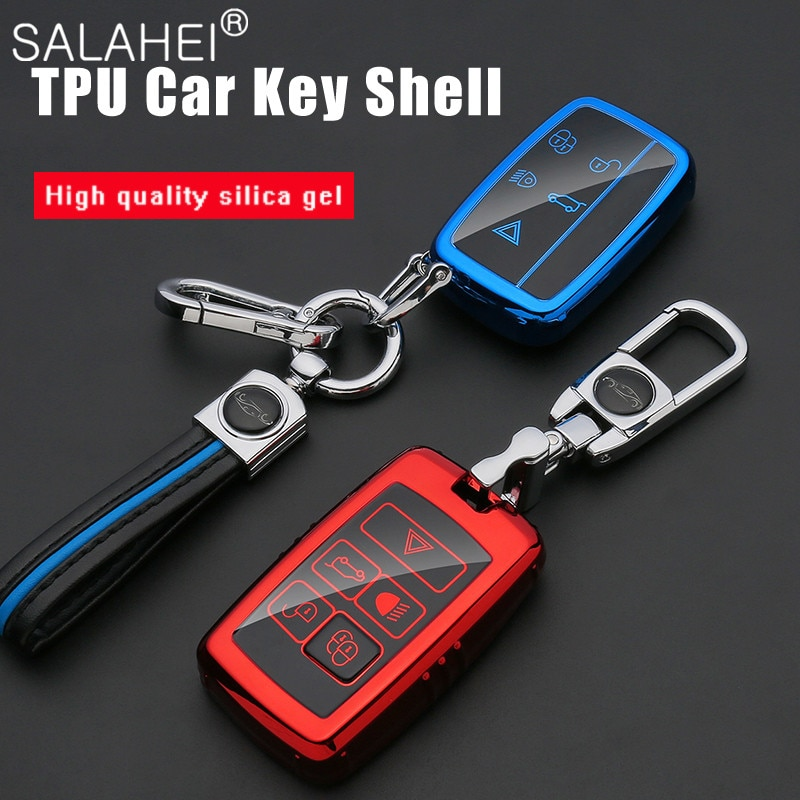 Soft TPU Car Key Case For Land Rover Range Sport A9 Discovery 2 3 4 Jaguar XF A8 X8 XE XFL Remote Cover