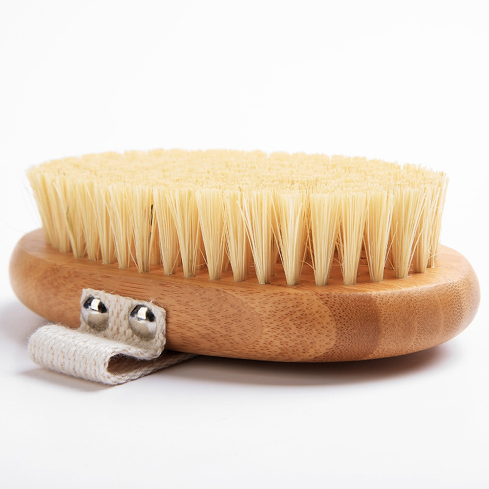 Body Brush Dry Skin Bath Wooden Massage Shower Brush Wood Back Scrubber Exfoliating Brush Plant Fiber Cactus Massage Brush enlarge