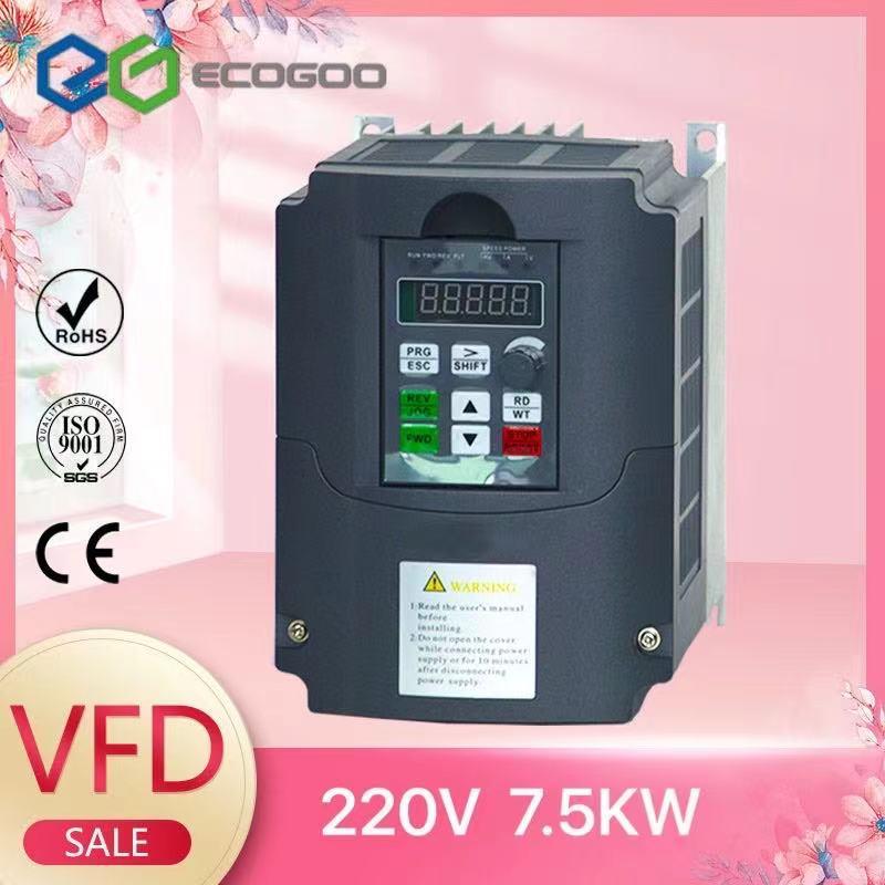 محول تردد متغير 50Hz/60Hz عاكس السيارات Wk310 VFD 7.5kw مرحلة واحدة 220 فولت المدخلات ثلاث مراحل 220 الإخراج