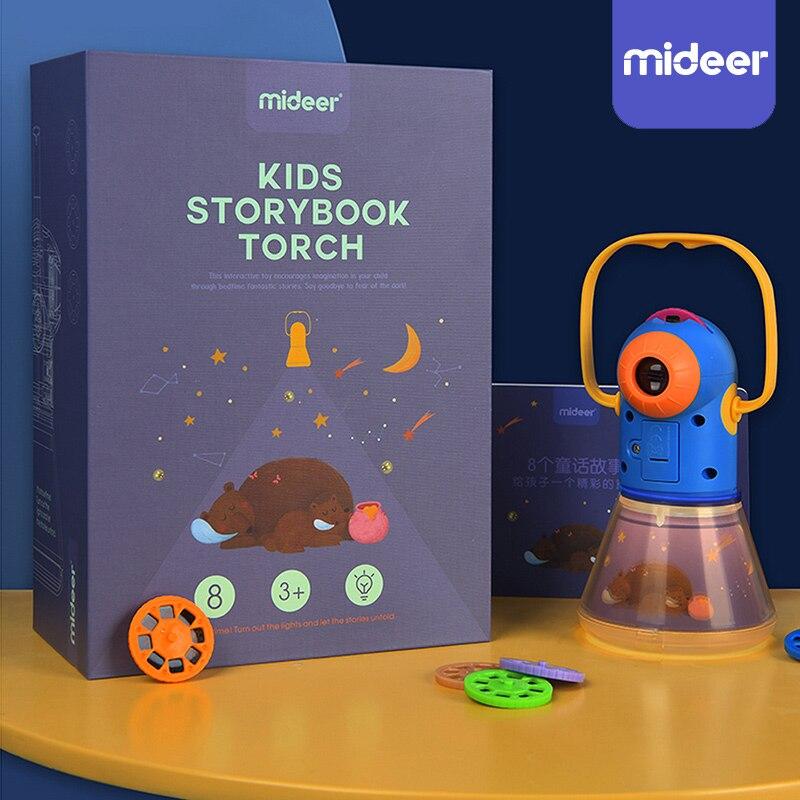 Книга рассказов Факел Проектор калейдоскоп дети небо свет вверх детские игрушки Дети Обучающие Развивающие игрушки для детей сказки подарок