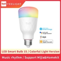 Yeelight     ampoule intelligente 1S YLDP13YL WiFi  variable  coloree  Compatible avec Alexa  Apple Homekit et Google Home  aucun Hub requis