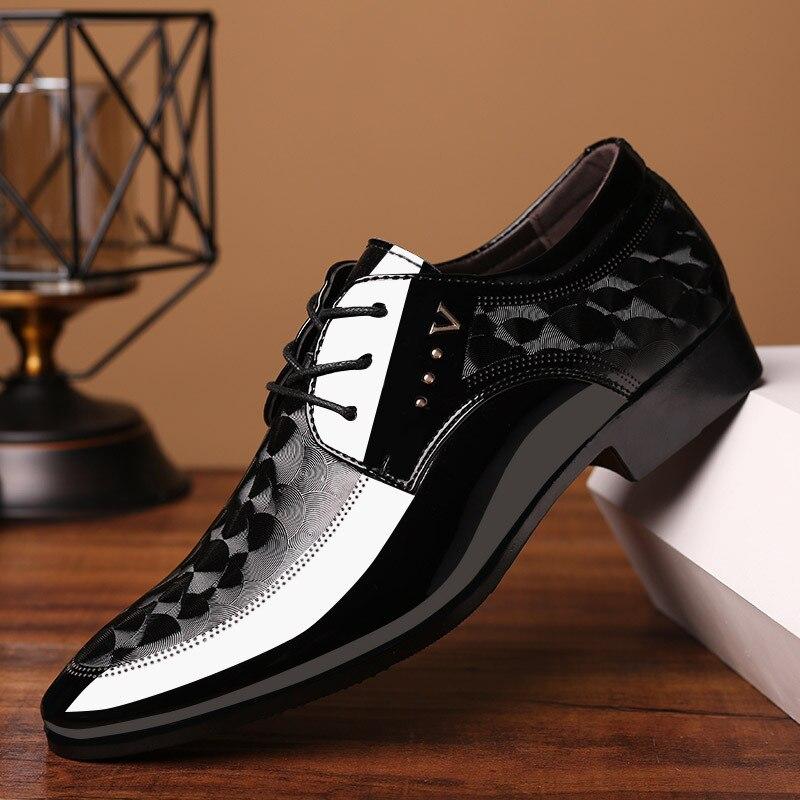 Masculinos de Couro Rendas até Respirável Escritório para o Homem Sapatos de Vestido Oxfords Sapatos Formal Tamanho Grande 38-48 Apartamentos Casual Masculino Erf5