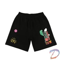 travis scott shorts cactus jack collection m high quality elastic band loose short pants men women travis scott sports shorts