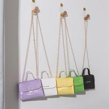 Women Fashion Alligator PU Crossbody Bags Chains Shoulder Bag Ladies Party Flap Handbags 2020 New