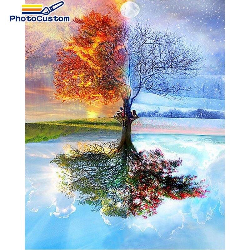 Картина по номерам на заказ фотография искусство картина подарок DIY картины по номерам наборы домашний декор