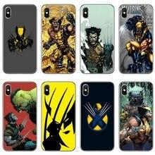 Marvel x mężczyźni Logan Wolverine do Samsung Galaxy S10 Lite S9 S8 S7 S6 krawędzi Plus S5 S4 uwaga 9 8 5 4 mini akcesoria etui na telefony