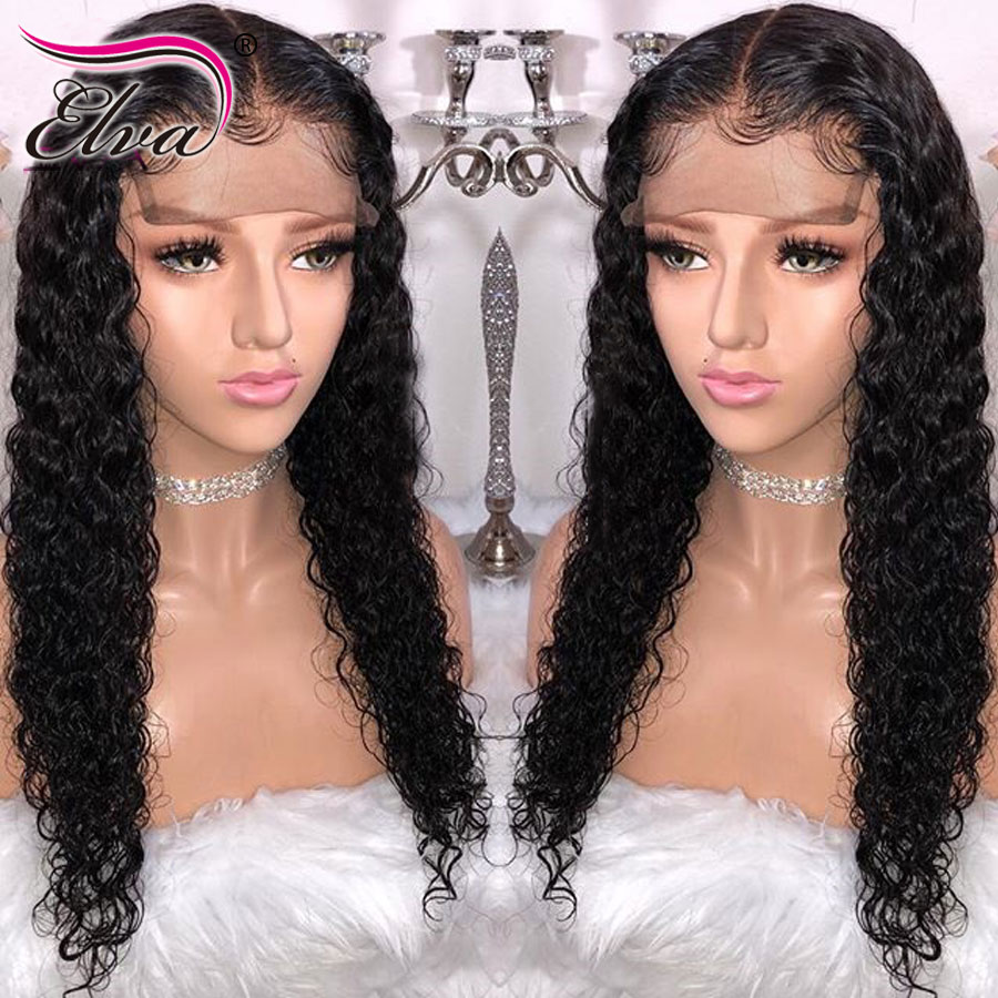 Elva Hair 13x6 Curly Lace Front Human Hair Wigs Pre Plucked 12A Lace Closure Wig With Baby Hair 360 Lace Frontal Wig HD Lace Wig