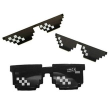 8 Bit Thug Life Sunglasses Pixelated Men Women Brand Party Eyeglasses Mosaic UV400 Vintage Eyewear U