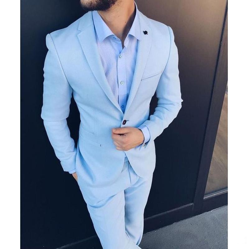 Handsome Groomsmen Notch Lapel Groom Tuxedos Wedding Dress Men Suits Blazer Prom Dinner (Jacket+Pants+Tie) K209 notch collar pleated panel blazer