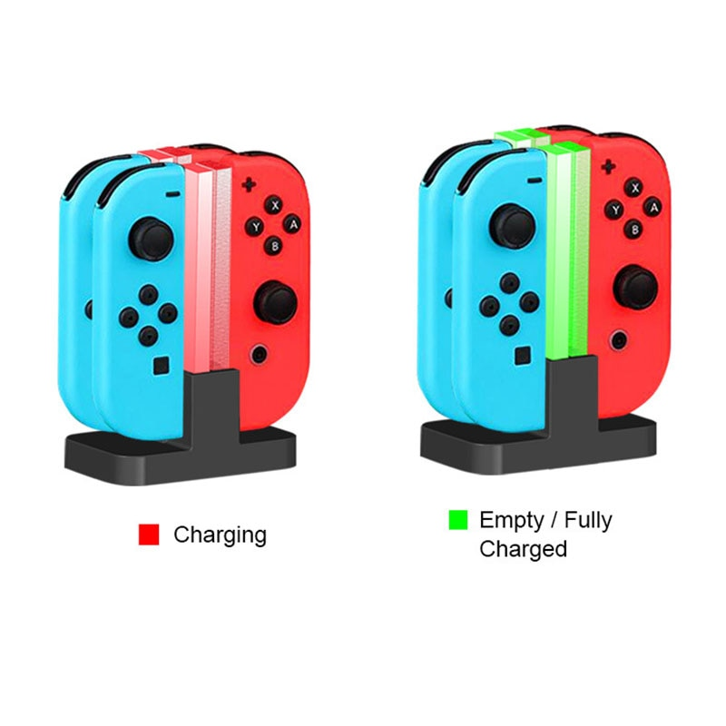 4 In 1 LED Charging Dock Station Charger For Nintend Switch 4 Joy Con Controllers 4 In 1 Charging Stand For Nintend Switch NS