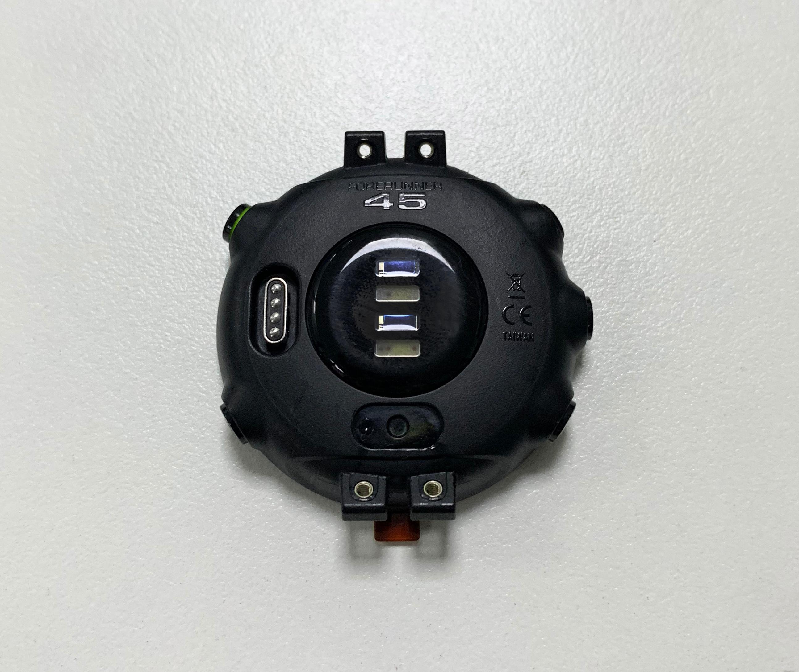 الغطاء الخلفي بدون بطارية ل Garmin forerunner 45 ساعة بـ GPS الإسكان شل استبدال إصلاح أجزاء جزء