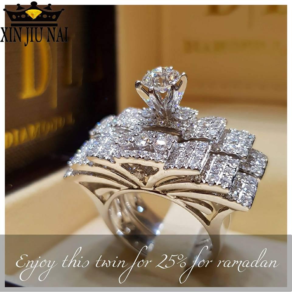 925 anillos כסף חדש אופנה נשים אלגנטית זירקון טבעת תכשיטי כסף צבע אירוסין טבעות לנשים גודל 5 6 7 8 9 10 11