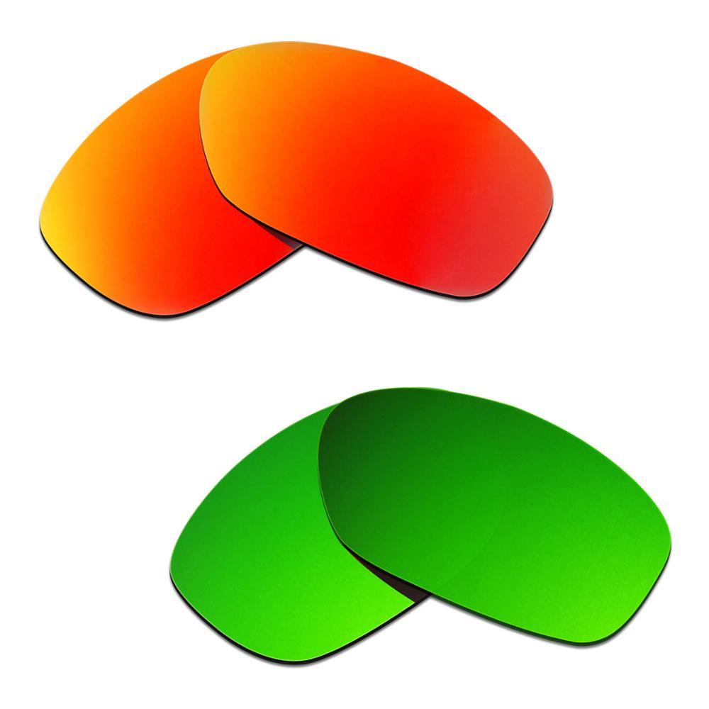 HKUCO ل حفرة الثور النظارات الشمسية استبدال العدسات المستقطبة 2 أزواج-الأحمر والأخضر