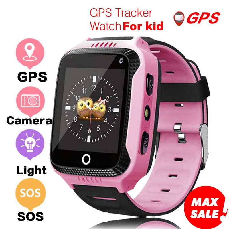 GIAUSA Q528 GPS niños reloj inteligente con cámara de pantalla táctil GPS rastreador reloj inteligente niños Monitor SOS para bebé PK q50 q90