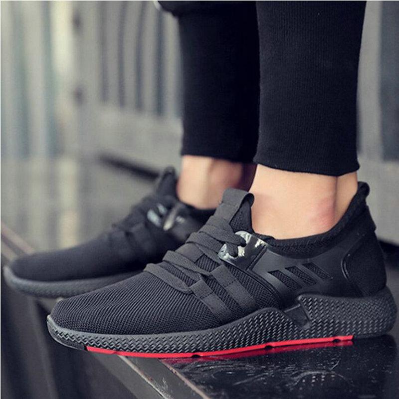 Leisure Shoes Hot Sale All Black Shoes Comfortable Men Walking Sneakers Men Breathable Men's vulcanized shoes For Outdoor US-74