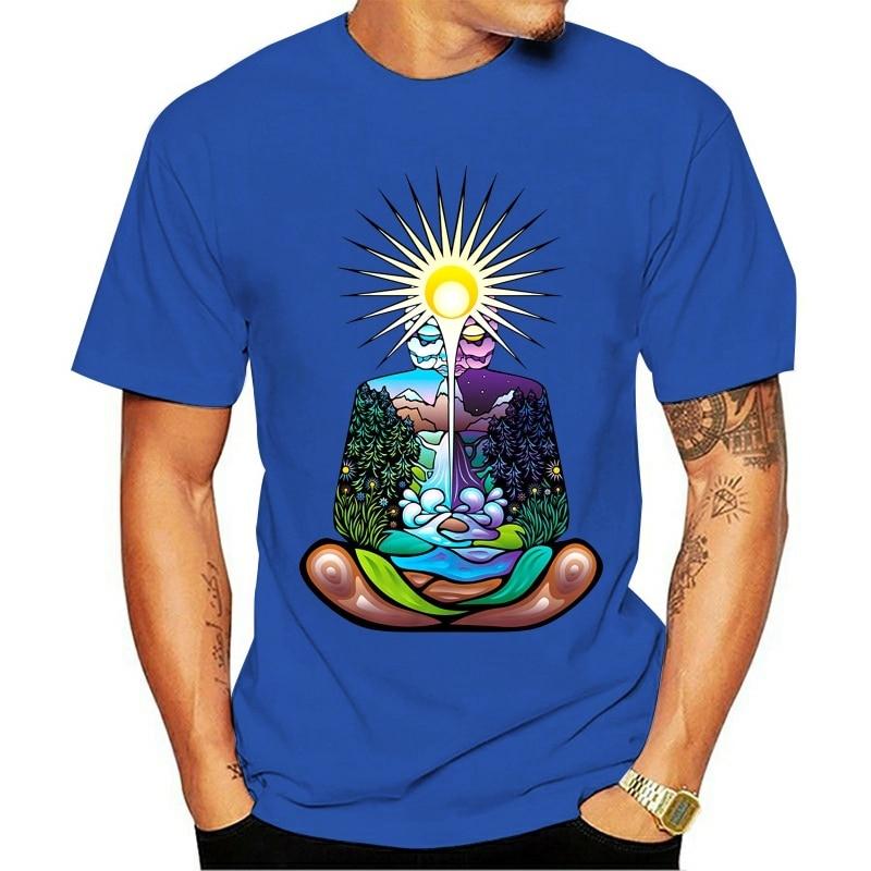 Футболка медитация чакра Индия Гоа Йога религиозное сознательное дерево Lifecool Повседневная гордость модная футболка футболки|Футболки| | АлиЭкспресс